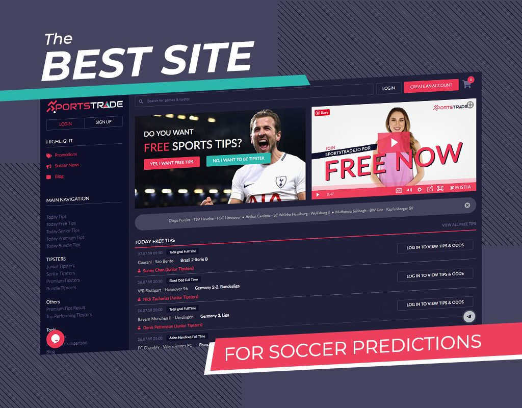 The best site for soccer predictions (Betfame.com, SportsTrade.io)